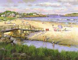 Mosher Gallery, Good Harbor Beach painting, Gloucester, MA